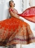 Orange colour Bridal Lehenga choli