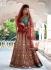 Red and green colour Bridal Lehenga choli