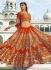 Orange colour heavy bridal lehenga choli