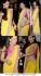 Nargis Fakhri yellow and pink saree