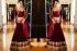 Sophie Choudry Wine red Lehenga