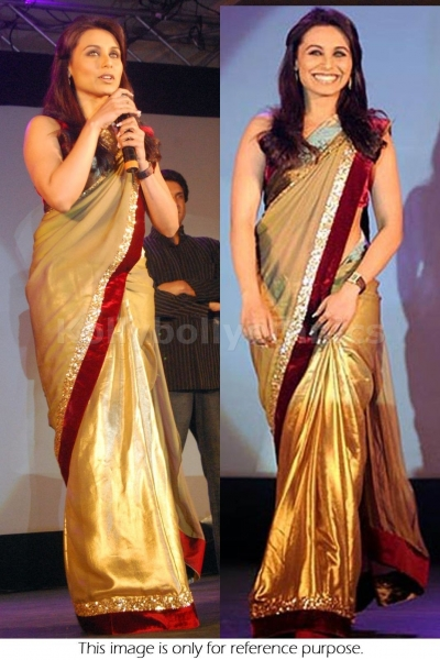 Rani Mukerjee Golden saree