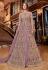 Light purple net dual look Wedding lehenga kameez