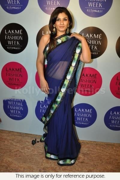 Raveena Tondon Blue saree