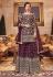 Purple net Wedding palazzo wear suit