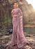 Gajri net heavy zarkan wedding wear saree
