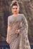 Cement net heavy zarkan wedding wear saree