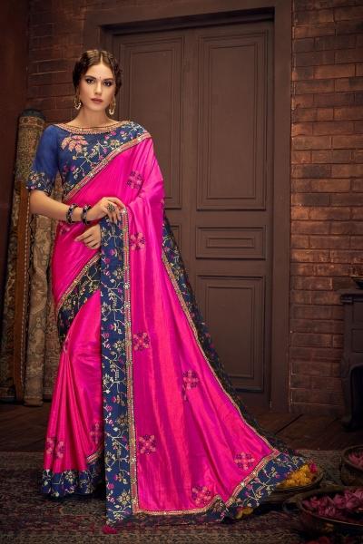 Indian wedding wear saree 13414