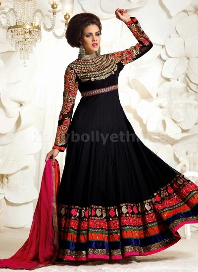 Black designer Party wear Anarkali suit