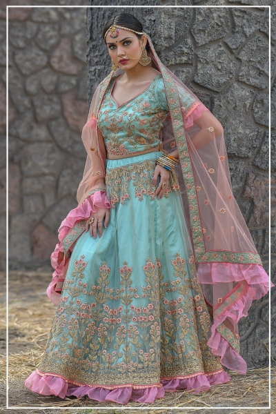 Indian bridal lehenga choli 956