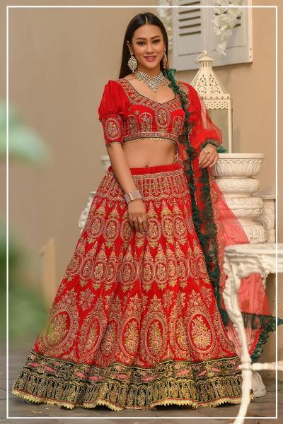 Indian bridal lehenga choli 963