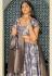 Gray jacquard embroidered circular lehenga choli 11211