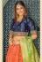 Orange banarasi embroidered circular lehenga choli 11212