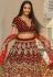 Maroon velvet embroidered circular lehenga choli 970