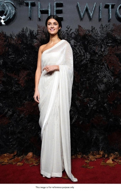 Bollywood Manish malhotra inspired White sequins saree