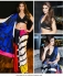 Bollywood Ileana Dcruz Inspired multi color satin saree
