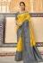Yellow silk saree with blouse 3302