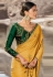 Yellow barfi silk party wear saree 80004