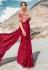 Magenta barfi silk party wear saree 80007