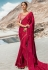Magenta barfi silk party wear saree 80007