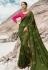 Green barfi silk saree with blouse 80008