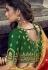 yellow green banarasi silk traditional lehenga choli 3702