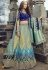 blue banarasi silk traditional lehenga choli 3704