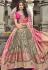 grey pink banarasi silk traditional lehenga choli 3705