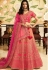 bridal pink silk embroidered lehenga choli 940