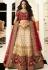 off white maroon silk embroidered lehenga choli 943