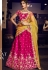 rani pink silk embroidered lehenga choli 4157