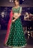 dark green silk embroidered lehenga choli 4161