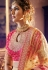 beige pink georgette silk embroidered lehenga choli 4167