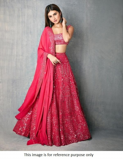 Bollywood Tara Sutaria Inspired Pink wedding lehenga choli