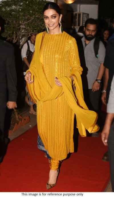 Bollywood Sabyasachi Deepika Inspired Yellow kurta