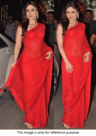 Kareena Kapoor Hot Red saree