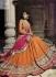 Orange and pink Wedding Wear Lehenga