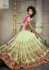 Mint green and pink Wedding Wear Lehenga