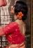 Red banarasi silk saree with blouse 96648