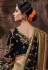 Black banarasi silk festival wear saree 96649
