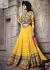 Yellow Georgette  designer Wedding Wear Lehenga