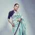 Bollywood Kangana Ranautt Inspired Ice blue silk saree