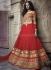 Traditional red designer Wedding Wear Lehenga