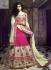 Cream and pink Wedding Wear Lehenga
