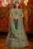 Green raw silk circular lehenga choli 5173