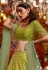 Green satin silk circular lehenga choli 5182