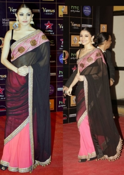 Anushka Sharma Star Award Saree