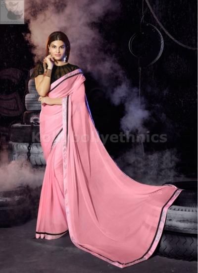 Jacqueline Fernandez pink Party wear saree