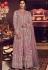 pastel pink net embroidered designer trouser suit 6505