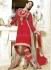 Red and beige georgette Malaika Arorakhan Party wear salwar kameez